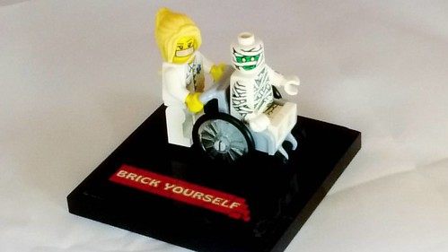 Me and my nurse :)   #brickyourself #brickmandan #makeyourselfinlego #lego #legowheelchair | by BrickManDan