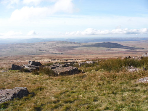 Southerly views from Fan Hir across Waun Fignen Felen to Shake Holes Country
