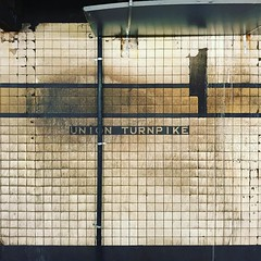 Union Turnpike. #MTA #subway #station #stop #sign #wall #dirty #grimy #urban #decay #transportation #Queens #NYC