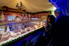 U.S. Secretary of State John Kerry looks at tools made of chocolate as he walks through the Weisser Zauber 'White Magic' Christmas market on December 7, 2016, while visiting Hamburg, Germany, to attend a meeting of the Organization for Security and Co-operation in Europe. [State Department photo/ Public Domain]