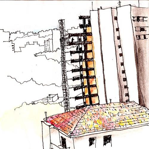 Caligrafia Urbana: Obra #saopaulocity #saopaulosp #drawing #desenho by Dalton de Luca