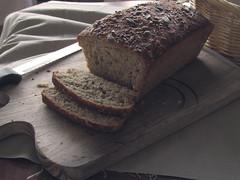 breakfast, baking, rye bread, baked goods, food, sliced bread,