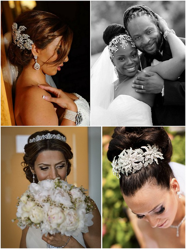 Real Bridal Styles Bride Hair Inspiration - Updos
