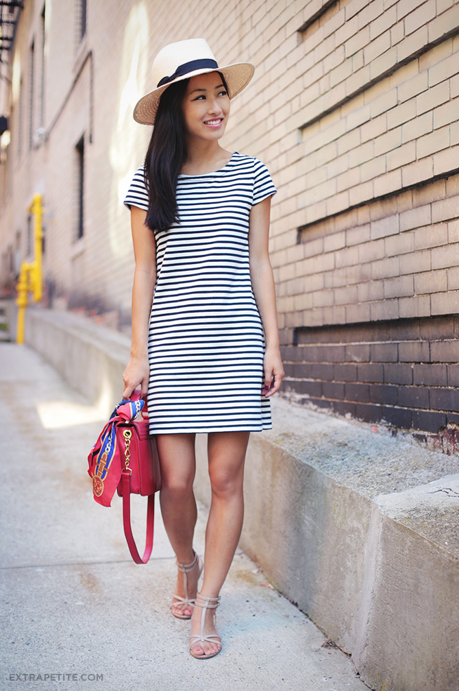 Striped Shift Dress1