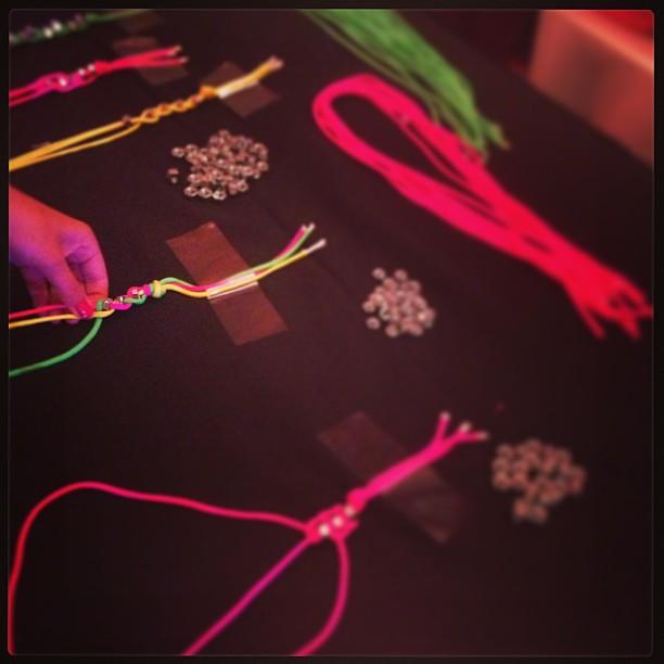 Making bracelets #txsc13