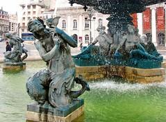 Rossio Fountain in Lisbon