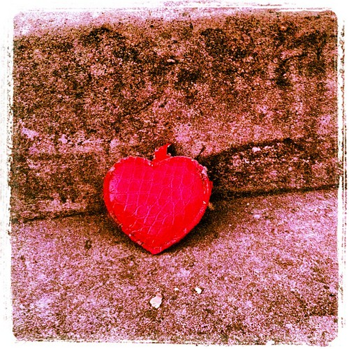 "Merry took this photo and says, ""The coolest heart ever is like that heart in that picture""."