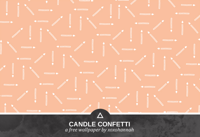 Candle Confetti Desktop Background Preview in Peach