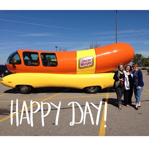 Lovely Birthday visitors AND  the wienermobile !!!  @maryzigs