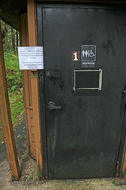 Government Closed sign at Ward Lake, Ketchikan, Alaska
