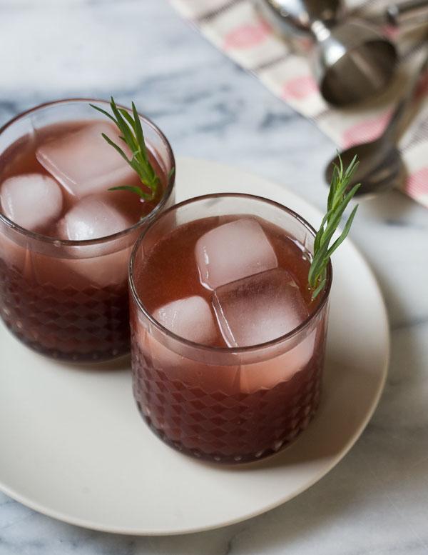 Pomegranate Tarragon Caprioska