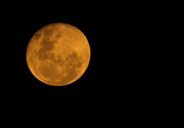 Orange Moon Over Sydney Caused By Bushfire Smoke Particles