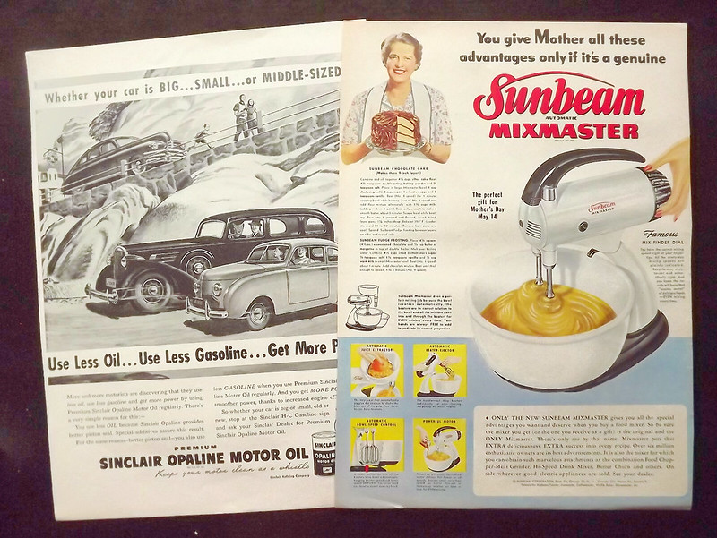 Sunbeam Mixmaster Vintage Advertisement