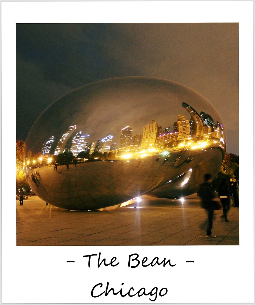 polaroid of the week usa chicago the bean cloudgate