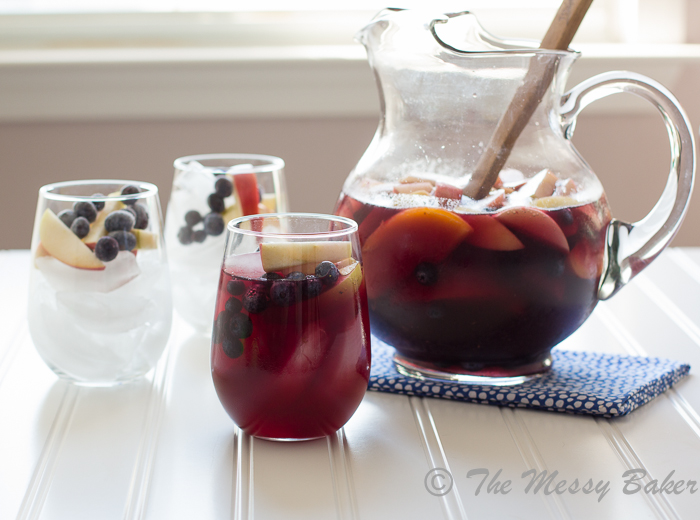 Wicked Blueberry Pomegranate Sangria | www.themessybakerblog.com-8802