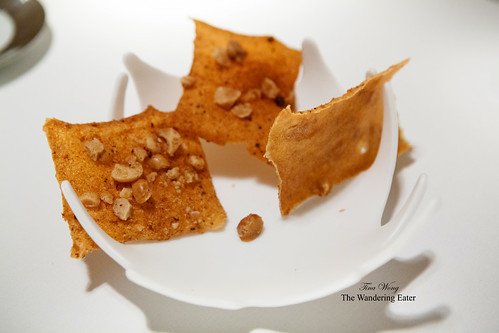 Spiced crisp topped with macadamia nuts