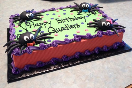 Quadruplets Halloween Birthday Cake 1-2