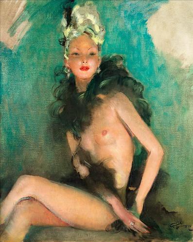 006-Chica en el teatro de variedades-Jean Gabriel Domergue