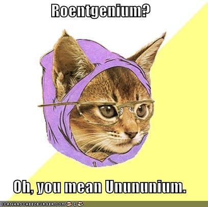 Element of the week roentgenium grrlscientist science the this weeks element is roentgenium which has the atomic symbol rg and atomic number 111 originally known by its temporary name unununium uuu which urtaz Choice Image