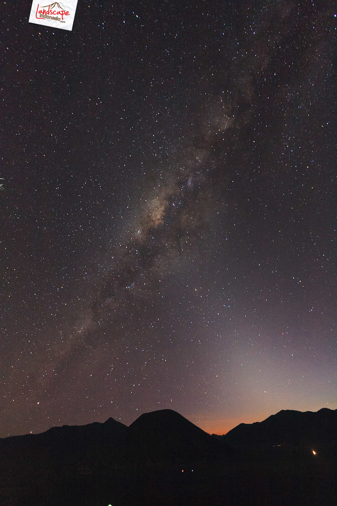 milky way over bromo