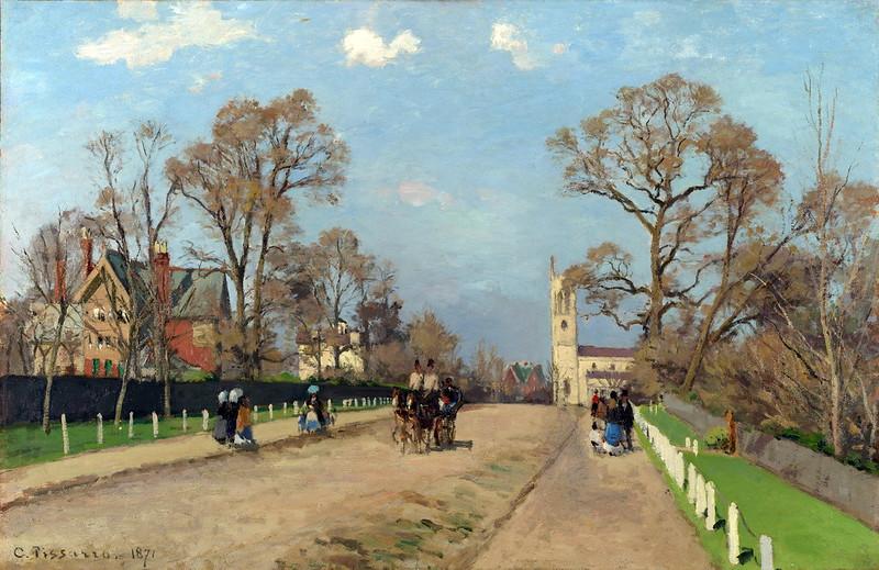 Camille Pissarro - The Avenue, Sydenham (c.1871)
