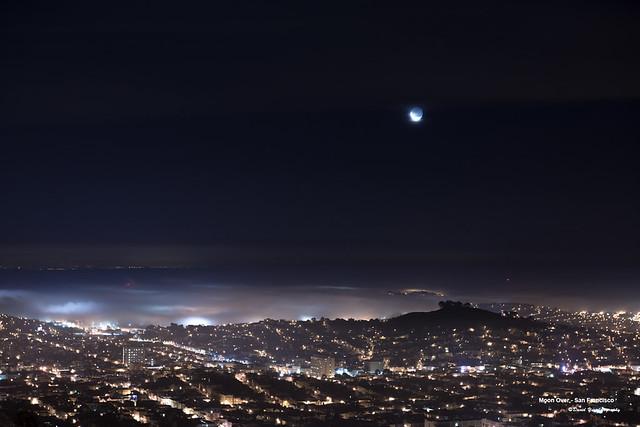 Moon Over - San Francisco