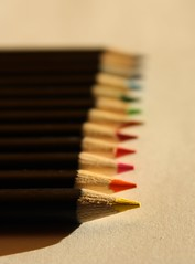 match(0.0), spiral(0.0), writing(0.0), eye(0.0), brown(1.0), wood(1.0), pencil(1.0), line(1.0), close-up(1.0),