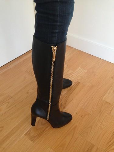 香蕉共和国维塔拉链靴子,尺寸7.5