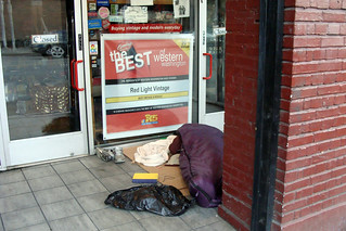 Every freezing morning, homeless people huddle in doorways