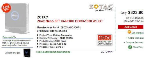 Zotac Zbox Nano ID67