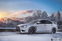 Evo X Playing In The Snow