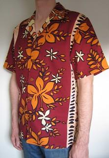 Barkcloth Hawaiian shirt