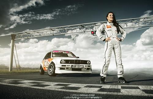 Drift Girl Bmw E30 M5engine My New Shot With Ramona Rusu