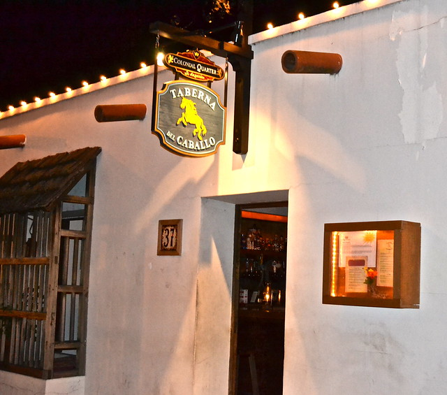 Entrance To The Taberna del Caballo in St Augustine Colonial Quarter FLorida