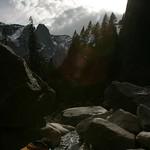 Climbing up Lower Yosemite Falls