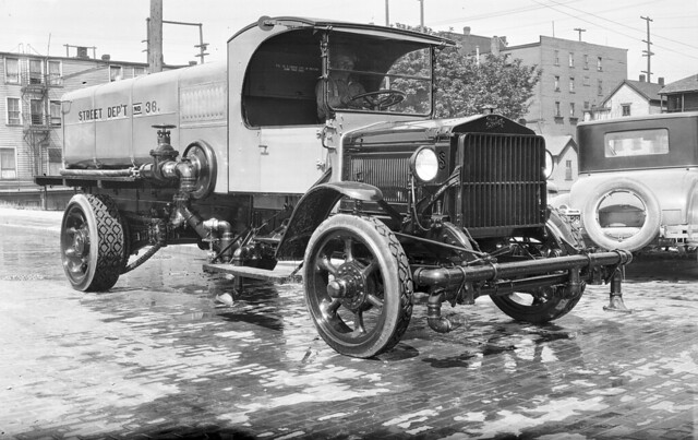 Street flusher, cleaning out the dirty streets of Seattle - Seattle Municipal Archives