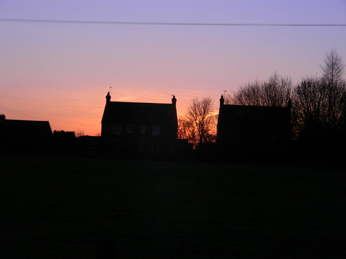 Sunset and houses