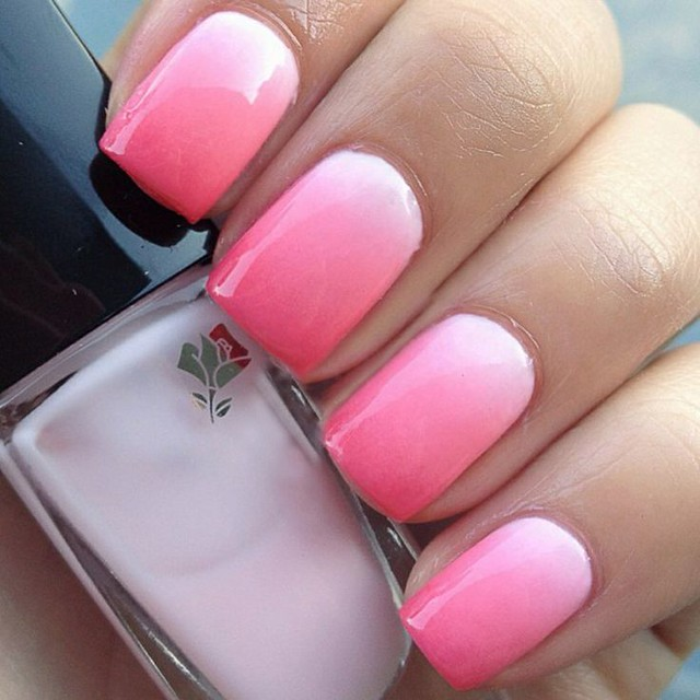 How To Do Ombre Nail Polish: Pretty Pink Princess : Nail Trends