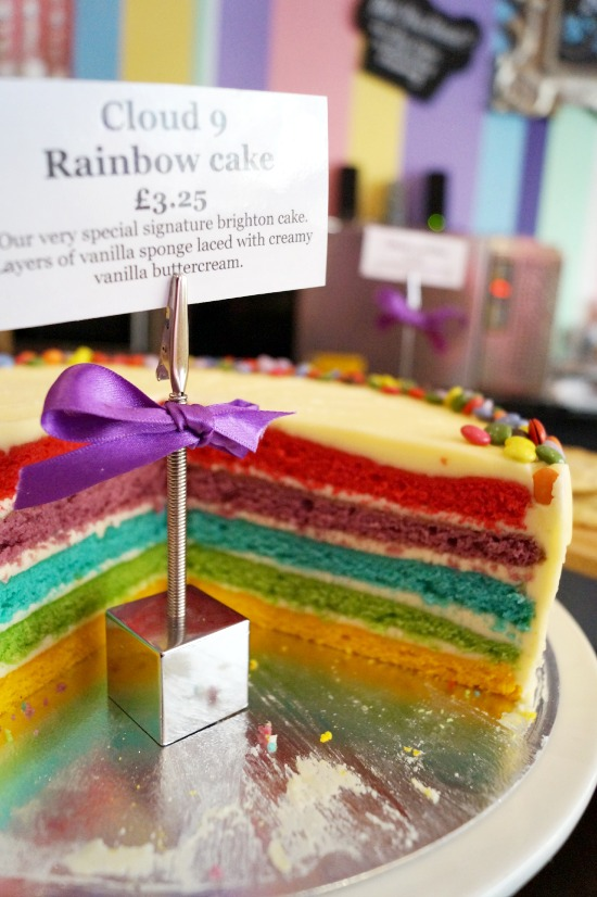 rainbow cake cloud 9 bakery brighton