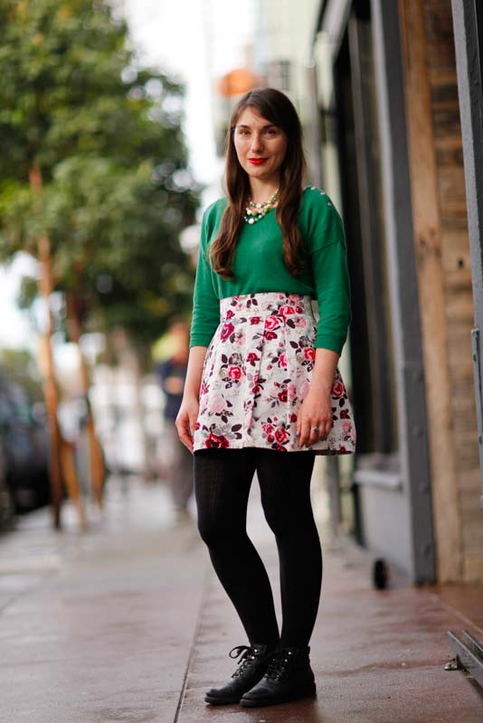greenblouse4barrel Quick Shots, San Francisco, street fashion, street style, Valencia Street, women