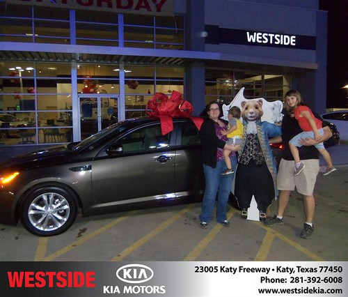 Happy Anniversary to Sharon M Miller on your 2013 #Kia #Optima from Wilfredo Suliveras  and everyone at Westside Kia! #Anniversary by Westside KIA