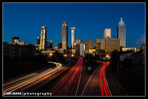 road street morning bridge atlanta light skyline skyscraper sunrise ga buildings georgia highway memorial downtown trails jackson interstate mlk skyscapers lightrails