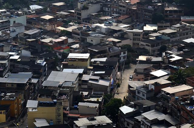 Tejados de las favelas de Brasil