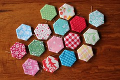 "1/2"" 'peppermint' hexies"