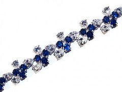 FRENCH SAPPHIRE AND DIAMOND BRACELET