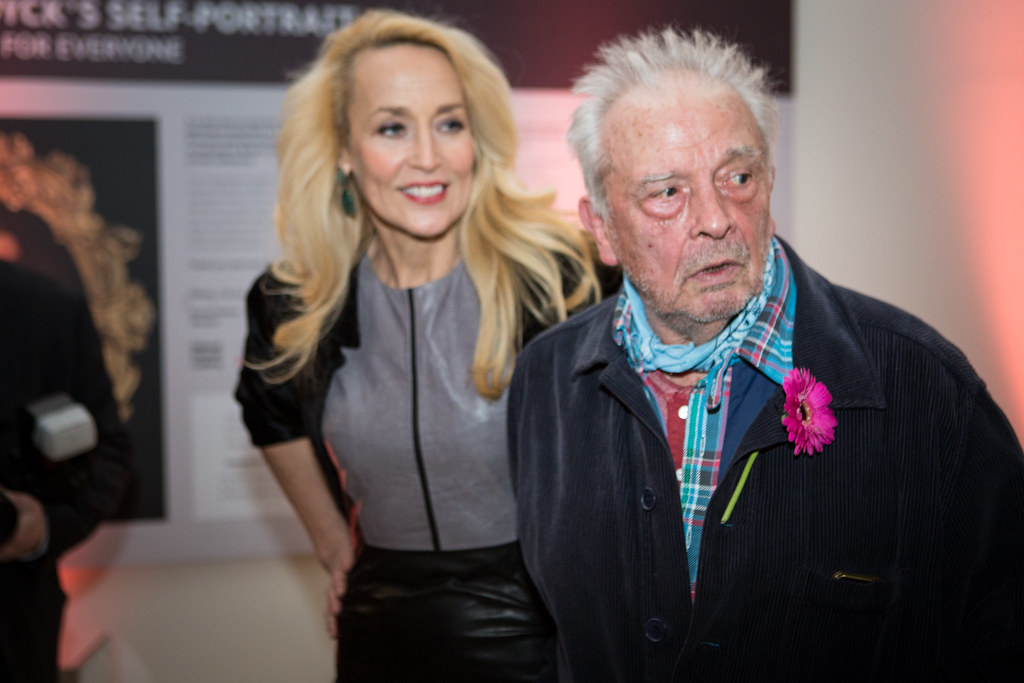 Jerry Hall and David Bailey