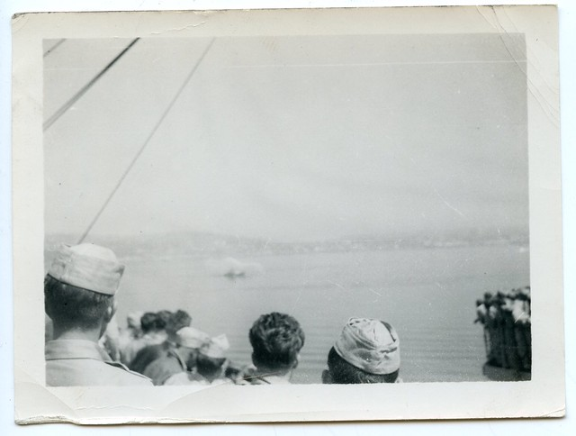 "Korean War Vets ""Fireboat welcome"", Seattle, 1951 (1 of 7)"