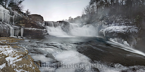 sunrise waterfall desotofalls winterscenery dekalbcountyalabama