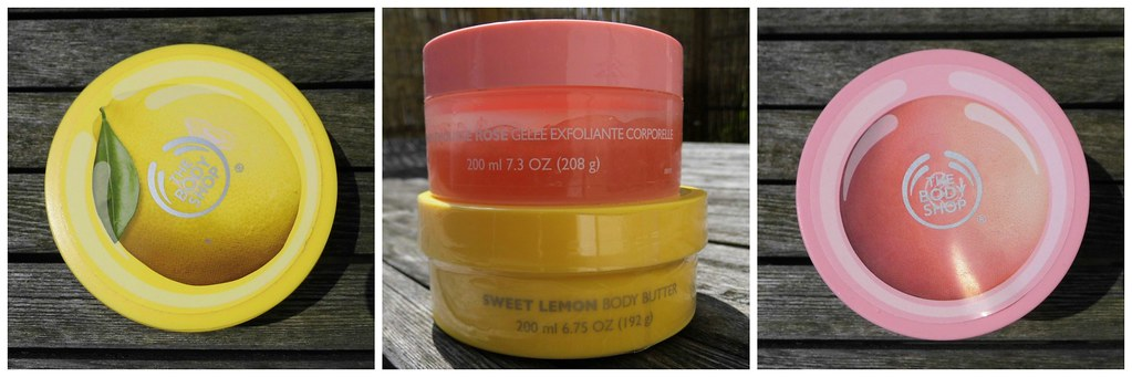 Body Shop Body Butter & Body Scrub sweet lemon pink grapefruit