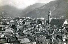 postcard - bolzano - panorama dal palazzo belevedere - 1959